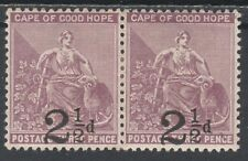 CAPE OF GOOD HOPE 1891 HOPE 21/2D ON 3D PAIR