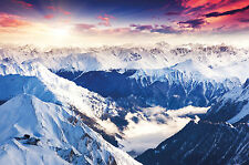 Fototapete Winterlandschaft Wandbild Berge Poster-Motiv by GREAT ART