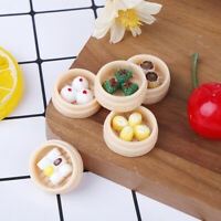 5X/set 1:12 Dollhouse Miniatures Chinese Dim Sum Food Kitchen Accessories FDly