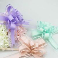 10pcs Large Organza Ribbon Pull Bows Wedding Party Decoration Flower Gift Wrap