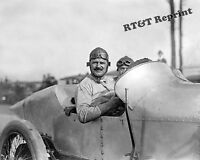 Photograph Vintage Louis Chevrolet in Sunbeam Astor Cup Races New York 1916 8x10