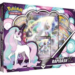 Pokemon TCG Galarian Rapidash V Box | 4x Booster Packs and Promo | New & Sealed
