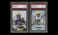 JOE BURROW 2020 LEAF PRIZED & SILVER 1ST GRADED 10 ROOKIE CARD LOT BENGALS/LSU