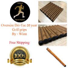 13 x Winn DriTac Oversize 20th anniversary Brown Golf Grip Dri-Tac Free Shipping