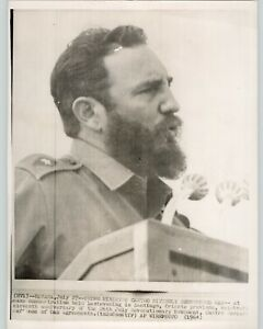 Fidel Castro Denounces OAS in Santiago. HAVANA CUBA Press Photo 1964