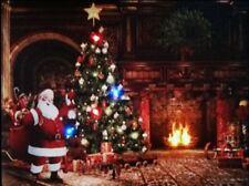 Decorazioni natalizie a parete e soffitto multicolore in legno