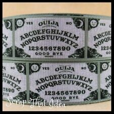 "OUIJA BOARD  Ribbon. 1"" Grosgrain. Scrapbooking / Craft. Spititual, Ghost, Ouiji"