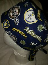 Milwaukee Brewers Handmade Surgical Scrub Caps