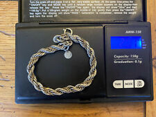 Tiffany & Co. Sterling Silver And 14K Yellow Gold Spiral Rope Bracelet