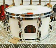 """Pearl Signature Series Dennis Chambers Model 14"""" Snare drum in White"""