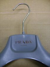 "Prada Milano Grey Plastic 14 3/4 "" Dress Shirt Coat Hangers Set 8"