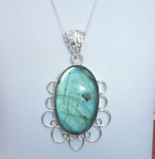 "Labradorite Fine Necklaces & Pendants 20 - 21.99"" Length"