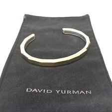DAVID YURMAN 18K Gold & .925 Sterling Silver Geometric Cuff Bracelet (21544)