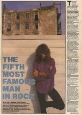 16/12/89Pgn10 Article & Picture Jon Bon Jovi 'the Fifth Most Famous Man In Rock'