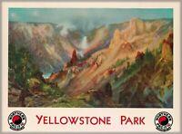 Wyoming Yellowstone National Park Travel Advertisement Art Poster Print