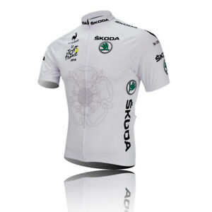 Mens Cycling Jersey White Cycling Jersey For the 2014 Le Tour de France