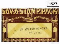 Dealer Dave Stamps OLD 'SAV-A-STAMP PACK' GLASSINE, 10 US STAMPS 5¢ (1527)
