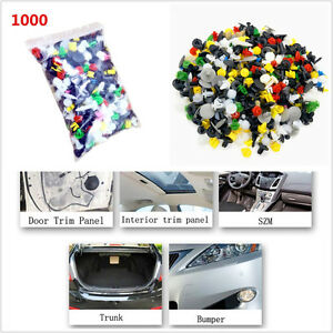1000 Pcs Mixed Sizes Car Plastic Rivet Bumper Fender Retainer Fastener Push Clip
