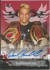 Dan Hornbuckle 2010 Leaf MMA Red Autographs Card # AUDH1 UFC