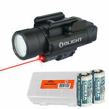 Olight Baldr RL 1120 Lumen Rail Light and Red Laser + LumenTac Battery Case