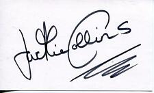 "JACKIE COLLINS AUTHOR ""THE STUD"" ""HOLLYWOOD WIFES""  SIGNED CARD AUTOGRAPH"