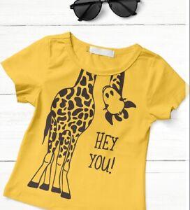 Hey You! - Giraffe t-shirt for girls