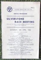 SILVERSTONE (VSCC) RACE MEETING PROGRAMME 14 APR 1962
