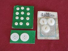 """Vintage Mother of Pearl Buttons Twelve  1/4""""; Two  1"""" & Three - 7/8"""""""
