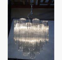 "Contemporary Glass ""Tronchi"" chandelier Murano Glass sputnik"