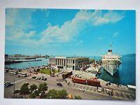 TRIESTE nave ship TRENO autobus Stazione Marittima vecchia cartolina