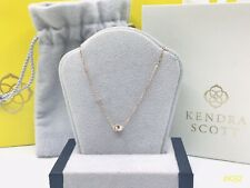 LOOK! 14K ROSE GOLD Kendra Scott LOVE KNOT Necklace With DIAMONDS