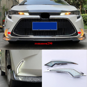 2X For Toyota Corolla 2020-2021 L/LE/XLE LED DRL Running Light/Turn Signal Light