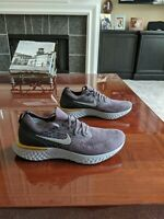New Nike Men's Epic React Flyknit Running Shoes Gray/Black/Gold Size 12 MSRP$150