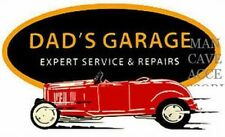 Vintage DADS GARAGE Vinyl Decal Sticker Ford Mopar GM 4032