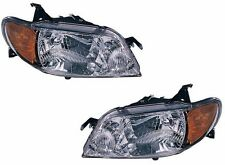 2001 - 2003 MAZDA PROTEGE SEDAN ALUMINUM BEZEL HEADLIGHT LEFT & RIGHT PAIR SET