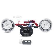 "Bluetooth 7/8"" Handlebar Mount Audio Radio FM MP3 Speaker For Motorcycle Bikes"