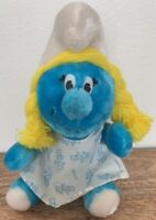 "SMURFETTE 1981 PEYO ORIGINAL Wallace BERRIE Plush Stuffed 10"" Vintage Smurf"