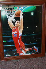 Blake Griffin Autographed LA Clippers Photo Framed 11x14 Dunk Shot PSA V81342