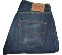 Mens LEVI'S 501 Dark Blue Denim Jeans W34 L30