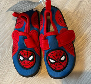 NWT Disney Store SIZE 7 Spider-Man Swim Shoes Water Shoes Pool Bathing