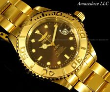 New Invicta Mens NH35A 24 Jewels Automatic 18K Gold Plated Stainless Steel Watch