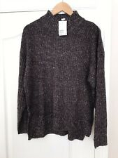H&M Ladies Chocolate Fleck Jumper With Side Split Detail. Small. New Tagged