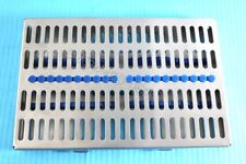 GERMAN DENTAL AUTOCLAVE STERILIZATION CASSETTE RACK BOX TRAY FOR 20 INSTRUMENT