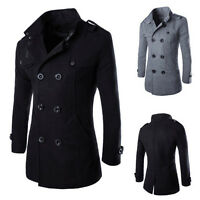 Fashion Men's Wool Coat Winter Warm Trench Coat Outwear Overcoat Long Jacket*