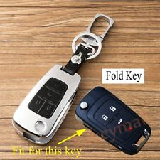 Metal Key Fob Case Holder Bag Shell Chain Cover For Chevrolet Malibu 2013-2018