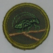 Boy Scout INSECT LIFE Merit Badge Type F (1961-68) Khaki Rolled Edge