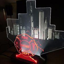 Chicago Skyline, Fire Department, LED Desktop/Bar Lamp