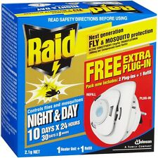 RAID Electronic Fly & Mosquito Repellant Value Pack 2 Plug-Ins 1 Refill