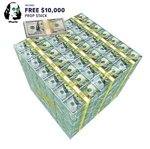 Million Dollar Cube Side Table - With Free Money Stack