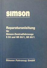 Reparaturanleitung Reparaturbuch Simson S 53 SR 50 50/1 80 80/1 IFA auch bei 51